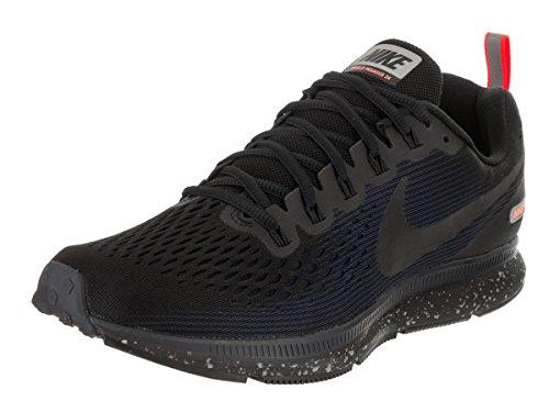 Nike Herren Air Zoom Pegasus 34 Shield Laufschuhe, Schwarz (Black/Black-Black-Obsidian-Hyper Rouge Crimson), 45.5 EU