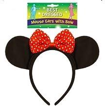 O de Minnie para hombre Mickey traje de neopreno para mujer diadema con orejas de ratón Fancy disfraz infantil de atuendo e instrucciones para hacer vestidos de accesorios de