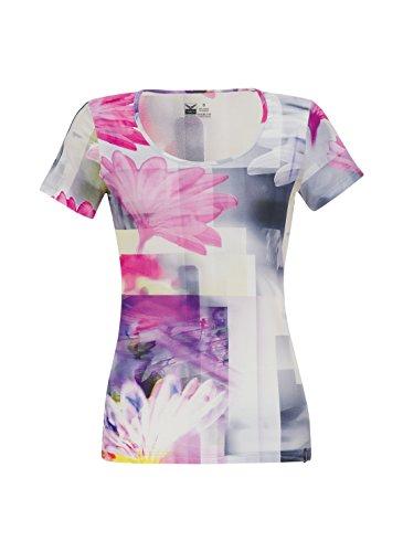 Trigema Damen T-Shirt Pinke Blumen Hibiskus