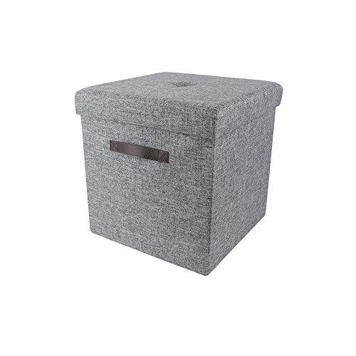 M4-lounge (THE HOME DECO FACTORY hd3408Premiumqualität Sitzsack faltbar Knopf grau braun M4Polyester 37,5x 37,5x 37,5cm)