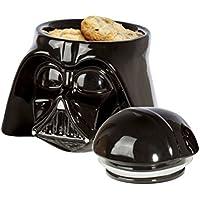 Star Wars Tarro galletas de cerámica color negro con forma de cabeza de Darth Vader