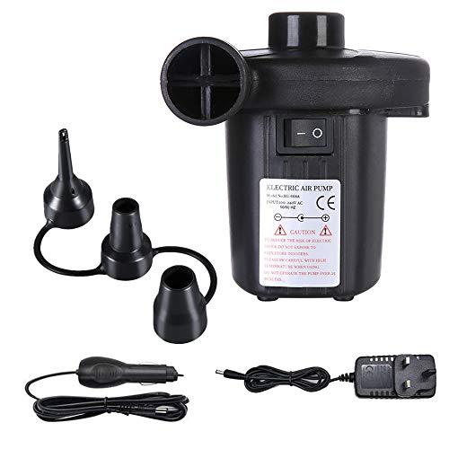 Kyerivs Elektrische Luftpumpe, Luftmatratze-Pumpe für aufblasbares Explosionspool-Floßbett-Boots-Spielzeug, Schnell-Füllen-Wechselstrom-Inflator-Deflator mit 3 Düsen, Wechselstrom 220V -