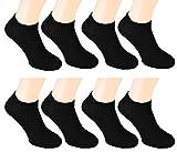 8-er Pack Sneaker-Socken Füsslinge Söckchen in schwarz Gr. 39/42 sneaker-socken weiße weiß farbige sneaker kurze strümpfe herren farbige sneaker herren nike billige sneakers kurze Socken herren vans