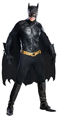 Comics Profi-Qualität Batman Superheld Cosplay Halloween Kostüm Kleid Outfit - Schwarz, Medium (Dc-halloween-kostüme)