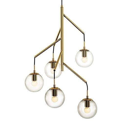 ZHANG NAN ●, Postmoderne Kronleuchter von Magic Beans Glaskugel-Pendelleuchte für Wohnzimmer Schlafzimmer Restaurant Bar Licht Beleuchtung Ausrüstung zu Hause, D ● - Edelstahl-restaurant-ausrüstung