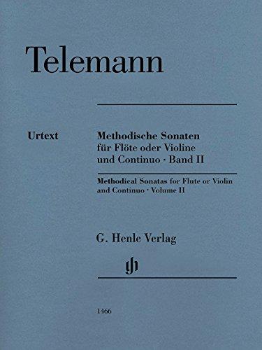 Sonates Methodiques V2 --- Flûte Ou Violon et Basse Continue par Telemann Gp