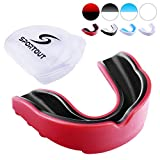 Sportout Gum Shield, Custom Mouldable Gel Fit Mouthguard, Sports Mouthguard with Transparent Case, Perfect for Karate, Lacrosse, Hockey, Football, Rugby, MMA, Boxing, Martial Arts, Wrestling, Roller Derby and Other Contact Sports, Kids&Junior&Adult