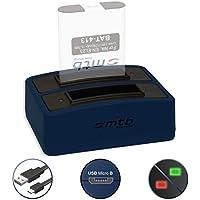 Cargador doble (USB) para EN-EL23 | Nikon Coolpix B700, P600, P610, P900, S810c - contiene cable micro USB