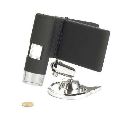 Microscopio Digitale Portatile USB Levenhuk DTX 500 (20-500x) con Schermo Lcs per L'Osservazione di Qualsiasi Superficie, Sia In Casa Che All'Aperto