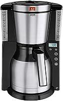 Melitta 101116 Kaffeefiltermaschine Look Therm Timer, Kalkschutz, Timer, schwarz/Edelstahl