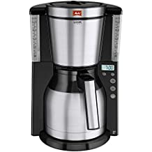 Melitta Look IV Therm Timer, 1011-16, Filter Coffee Machine with Insulated Jug, Timer Feature, Aroma Selector, Black/Brushed Steel
