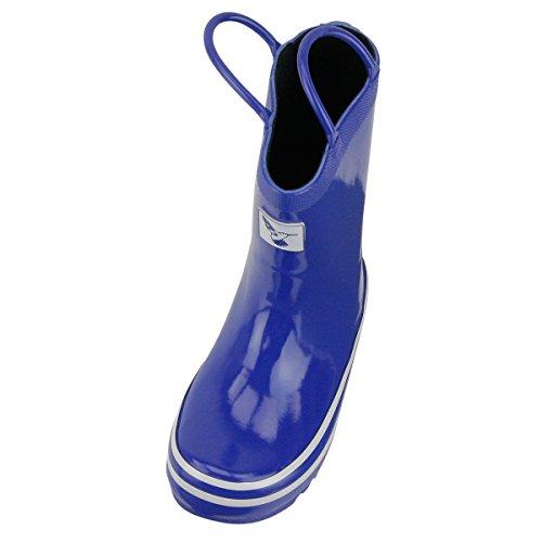 Evercreatures Kinder Gummistiefel Blue Wellies Kids blau weiss - bitte Grösse wählen Blau