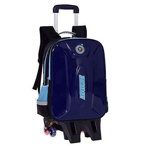 LBYMYB Reisetasche Rucksack Hartschale Dual-Use Student Trolley mit großer Kapazität wasserdichte reflektierende Umhängetasche Roller Rucksack (Color : Royal Blue, Size : 44x16x33cm) - Roller Räder Royal Für Roller