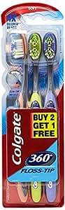 Colgate Toothbrush-360 Degree Flosstip - Buy 2 Get 1 Free (Soft-Saver)