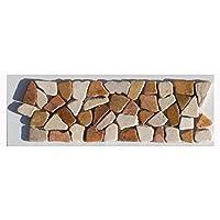 BO 334 Marmor Mosaikfliesen Bordüre Bruchstein   Fliesen Lager Verkauf  Stein Mosaik Herne NRW