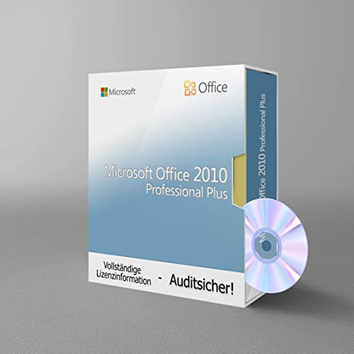Microsoft Office 2010 Professional Plus, Tralion-DVD. 32&64 bit. Deutsch Audit Sicher Zertifikat