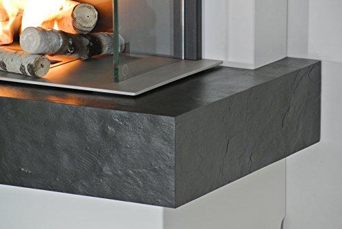 muenkel-Design-Prato-Chimenea-elctrica-opti-myst-CALOR-Negro-esquisto-Negro-Tapa-NEGRO-GRIS-con-calefaccin-90cm