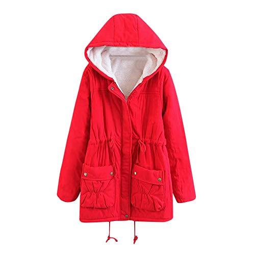 TianWlio Mäntel Frauen Weihnachten Damen Mantel Langarm Strickjacke Jacke Outwear Herbst Winter Winter Warm Outwear Solide Kapuzentaschen Vintage Übergröße Mäntel