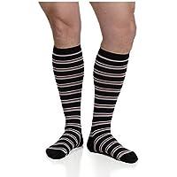 VIM & VIGR Compression Socks -Nylon-Thin Stripes (Black & Brick) - Men's Large by VIM & VIGR preisvergleich bei billige-tabletten.eu