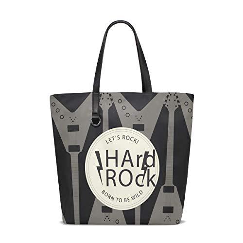 MALPLENA Rock-Akustik- Und E-Gitarren-Muster Totes Schulter Arbeitstasche Handtasche