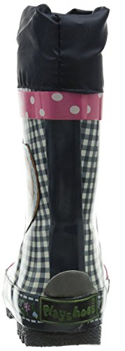 Playshoes  Gummistiefel, Regenstiefel Landhaus, Oktoberfest, aus Naturkautschuk, Bottes en caoutchouc de hauteur moyenne, doublure froide fille Bleu - Blau (marine 11)