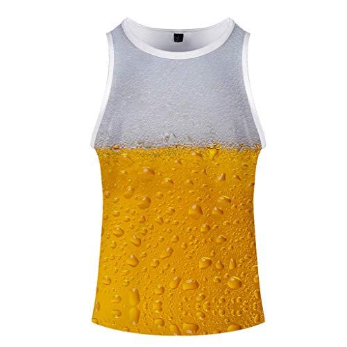 Setsail Herren Sommer Bier Festival 3D gedruckt O-Neck Short ärmellose Weste Top - Bier Für Männer Tank-tops