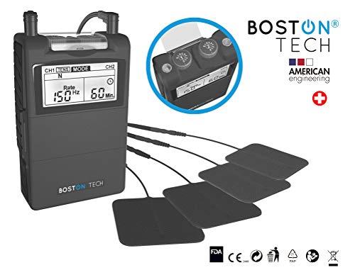 Boston Tech ME-89plus - Electroestimulador Muscular Digital TENS - EMS, Unidad Fisioterapia digital de dos canales,24 programas ajustables. Alivio de dolores, rehabilitacion y tonificador muscular.