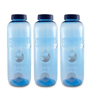 Tritan Trinkflaschen 0,75 Acala Sparset mit Blume des Lebens 3er Pack