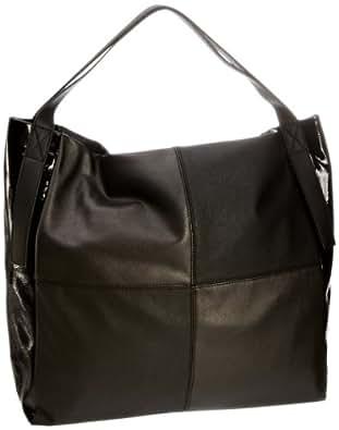 ESPRIT Tasche F15093, Damen Umhängetaschen, Schwarz (Black 001), 39x40x14 cm (B x H x T)