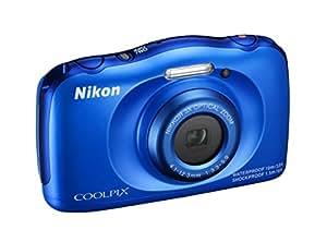 "Nikon Coolpix S33 Fotocamera Digitale Compatta, 13,2 Megapixel, Zoom 3X, 3200 ISO, LCD 3"", Full HD, Blu [Nital Card: 4 Anni di Garanzia]"
