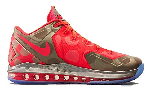 Max Lebron Xi Low Collection Sport Entraîneur Chaussures metallic zinc/hyper punch-ice