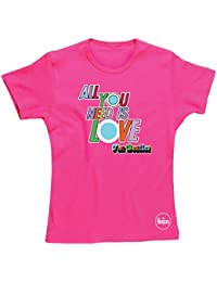 """Spike Damen T-Shirt The Beatles """"All You Need Is Love"""", pink"""