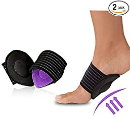 Skudgear 2 Pieces New Super Shock Absorb Shocking Foot Arch Support Plantar Fasciitis Heel Pain Aid Feet Cushioned Relief Shock Healthy Care