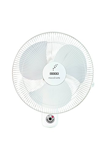 Usha Maxx Air Comfy 400mm Wall Fan with Remote (White)