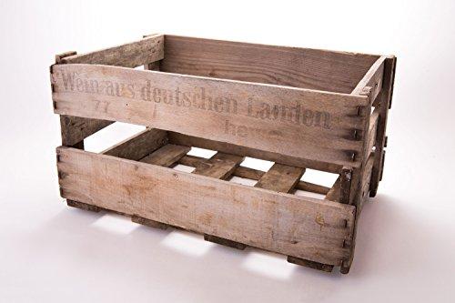 Pfälzer Weinkiste Original gebrauchte mit individuelle Färbung im tollen vintage Design 46 x 30,5 x 24 cm