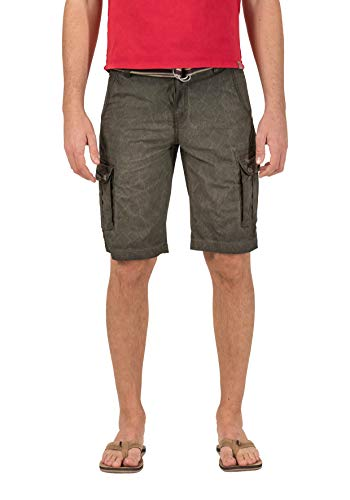 12 Pocket-cargo-shorts (Timezone Herren Loose MaguireTZ Cargo incl. Belt Shorts, Grün (Green Leaves 4065), W36 (Herstellergröße: 36))