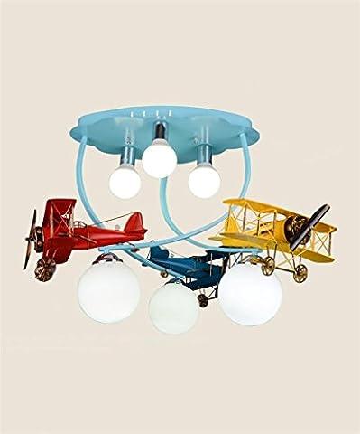 LXSEHN Lampes de plafond en bois massif LED Lumières de plafonniers pour garçons et filles Lampes de plafond créatives pour dessin animé Lampe d'éclairage de plafonnier Lanternes ( Couleur : D-Segmented )