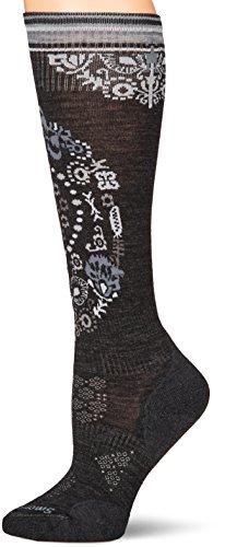 Smartwool Damen Socken Phd Le Ptrn Ski Socken M Anthrazit (Winter Stiefel Smartwool)