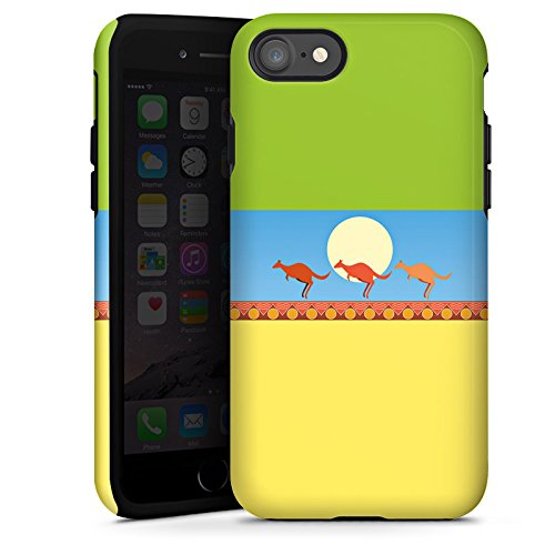 Apple iPhone X Silikon Hülle Case Schutzhülle Australien Känguru Urlaub Tough Case glänzend