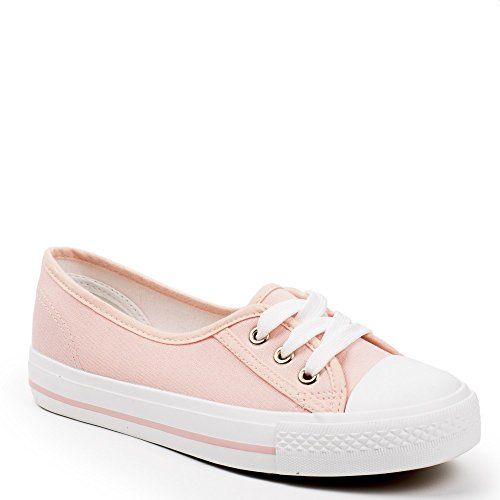 Ideal Shoes , Sneaker donna, rosa (Rose), 38