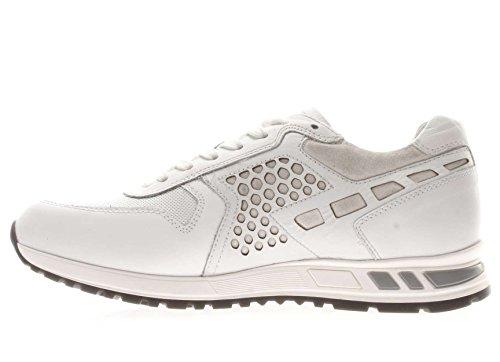 Nero Giardini Uomo Sneaker P704900U-707 Sneaker in pelle Bianco
