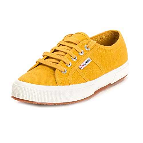 Superga 2750 Cotu Classic Damen Schuh UK4.5 EU37.5 US8 Yellow Senape -