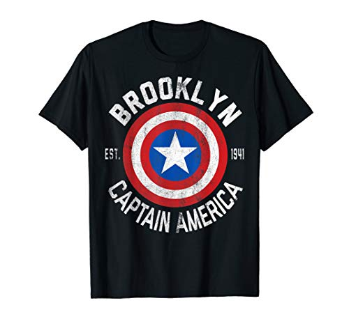Marvel Captain America Brooklyn Shield Graphic T-Shirt (Frauen Captain America-t-shirt)