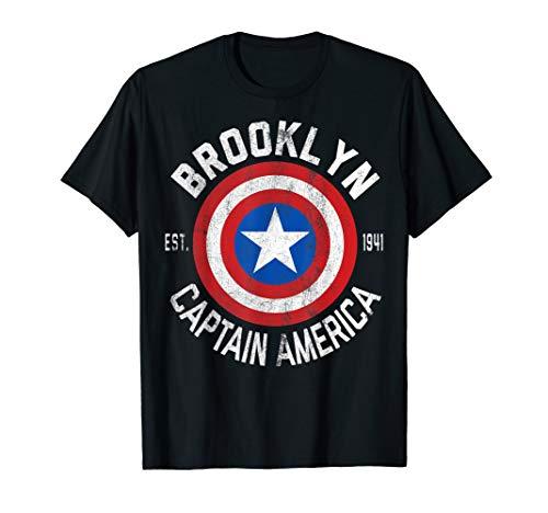 Marvel Captain America Brooklyn Shield Graphic T-Shirt