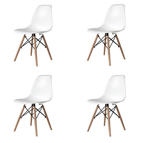PACK DE 4 SILLAS TOWER WOOD BLANCA