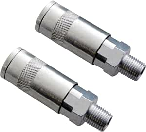 Am-Tech Quick Coupler Airline Fitting Male (2 Pieces)