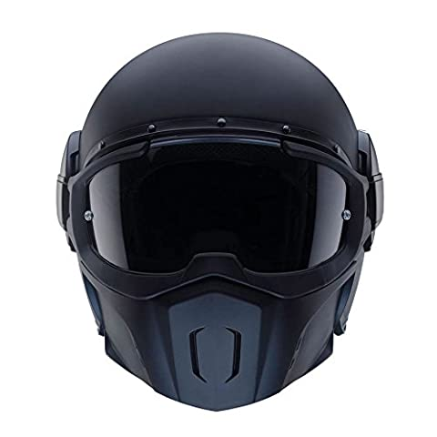Caberg Ghost Open Face Streetfighter Scooter Motorcycle Helmet - Matt Black M