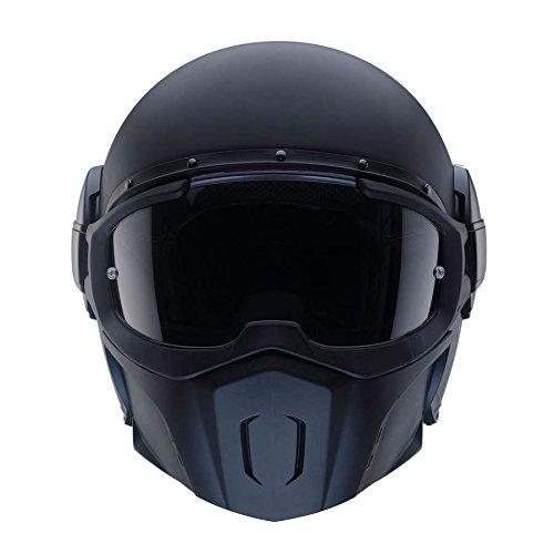 Caberg Ghost Fluo fibra de vidrio de casco jet Mate Negro, Ghost, Negr
