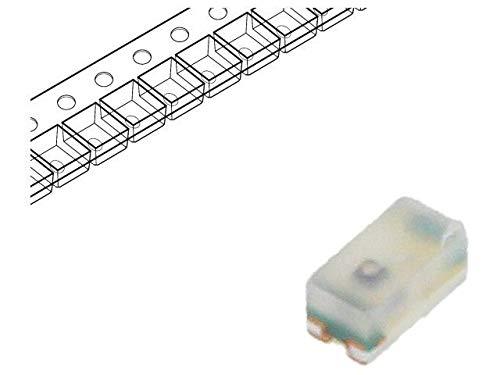 8x HSMA-C280 LED SMD 0402 amber 28.5-90mcd 1x0.5x0.4mm 130° 1.9÷2.4V