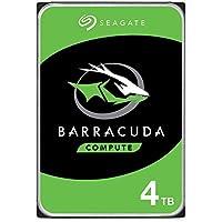 """Seagate BarraCuda, 4TB, Disco duro interno, HDD, 3,5"""", SATA 6 Gb/s, 5400 r.p.m., caché de 256 MB para ordenador de sobremesa y PC (ST4000DM004)"""